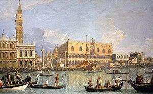 Canaletto, Veduta del Palazzo Ducale