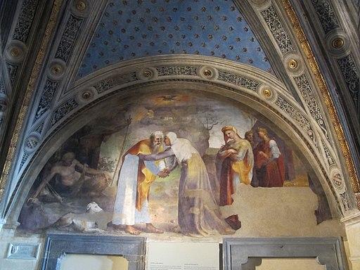 Cappella delle Reliquie 02, incontro alla porta d'oro di beccafumi
