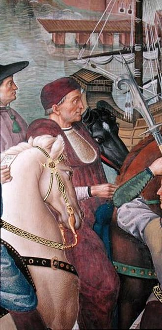 Domenico Capranica - Domenico Capranica.  Detail of a painting by Pinturicchio.