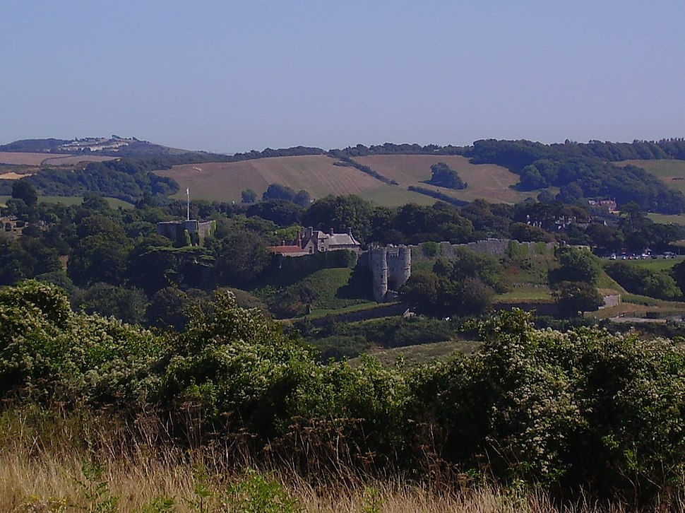 Carisbrooke Castle from the west