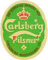 Carlsberg Pilsner 1904 label by Thorvald Bindesboll.png