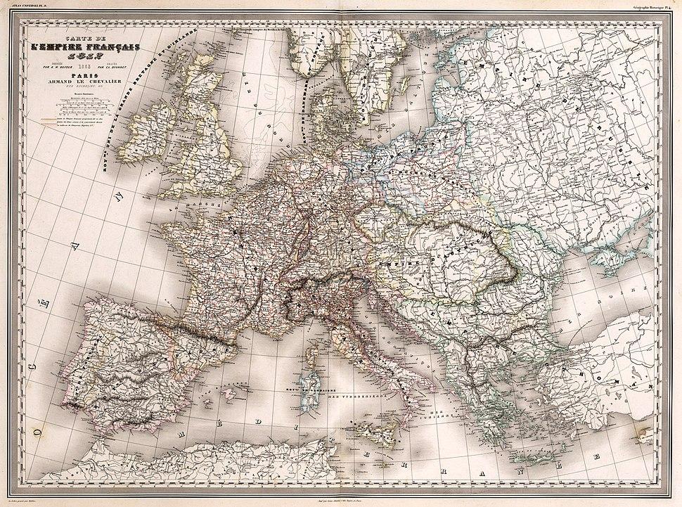 Carte de l'Empire Français 1812