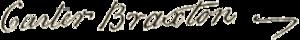 Carter Braxton - Image: Carter Braxton signature
