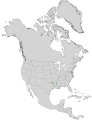 Carya myristiciformis USGS range map.png