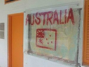 Balibo Five - The Australian flag in Balibo