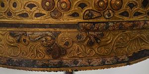Agris Helmet - Image: Casque d'Agris, musée d'Angoulême, Lamiot 2015 03