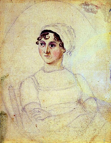 Portrait of Jane Austen by Cassandra Austen