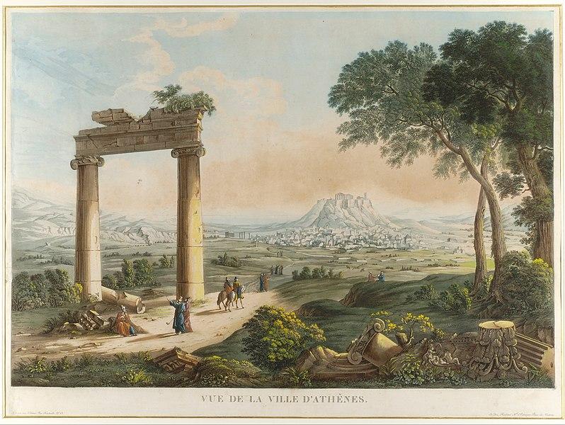 File:Cassas Louis-Francois - View of Athens with Hadrians Aqueduct - Google Art Project.jpg