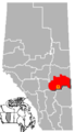 Castor, Alberta Location.png