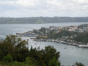 Chiloé Island - Panoramic view of Castro.