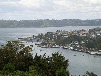Chiloé Island - Panoramic view of Castro.