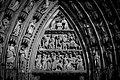 Cathédrale Notre-Dame de Strasbourg façade ouest tympan portail gauche.jpg