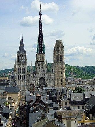 Flèche - Flèche in Rouen Cathedral