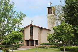 Cathedral of St. Eugene, Santa Rosa-Entrance-FacingNNW 02.JPG