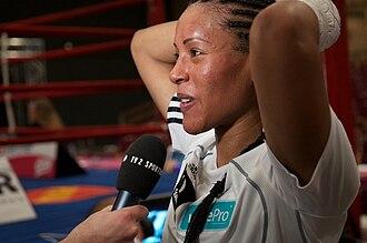 Cecilia Brækhus - Brækhus after defending her titles against Jill Emery, 2011