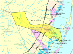 Census Bureau map of Barnegat Township, New Jersey