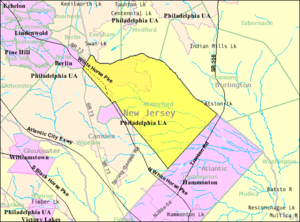 Waterford Township, New Jersey - Image: Census Bureau map of Waterford Township, New Jersey