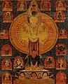 Center detail, Thousand-Armed Chenresi, a Cosmic Form of the Bodhisattva Avalokiteshvara (cropped).jpg