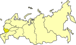 Central Black Earth economic region on the map of Russia
