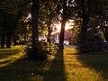 Centre of Malšice in sunset - panoramio.jpg