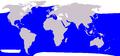 Cetacea range map Pilot Whale blue.png