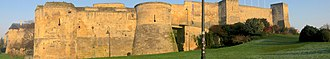 Château de Caen - Panoramic view of the entrance of the castle (Porte sur la ville)