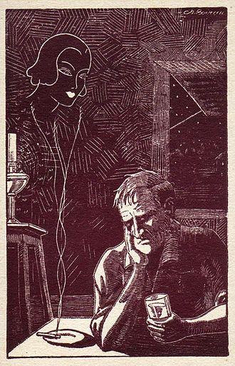 Melancholia - Ch. Boirau, The Spleen (Melancholy). Postcard, c. 1915.