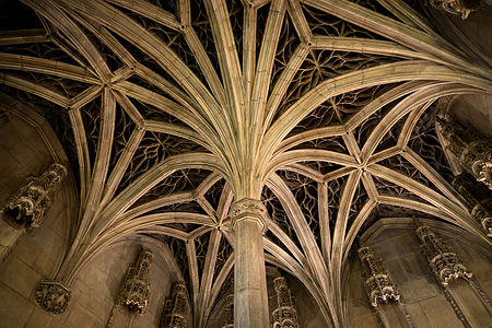 Flamboyant Gothic Vaulted Ceiling From The Chapel Of The Hotel De Cluny About 1500