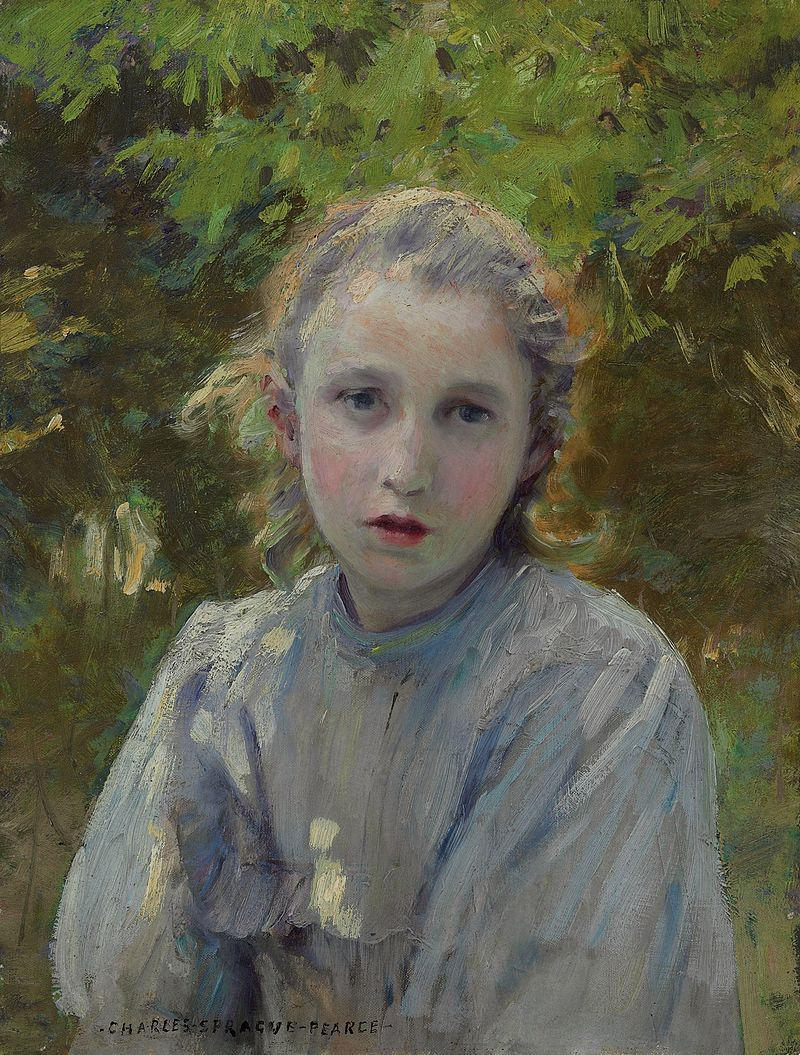 Charles Sprague Pearce - Portrait of a Young Girl.jpg