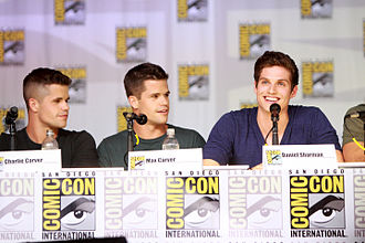 Daniel Sharman - Charlie Carver, Max Carver and Daniel Sharman, 2013.