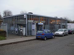 Chelsfield station main entrance.JPG