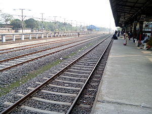 Chilahati railway station - Chilahati railway station platform