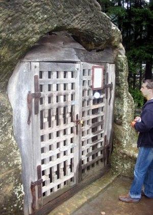 Daniil Sihastrul - Entrance to Daniil's cave.