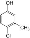 Struktur von Chlorkresol