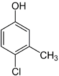 Struktur von 4-Chlor-3-methylphenol