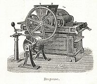 Machine de broyage (gravure de 1904 )
