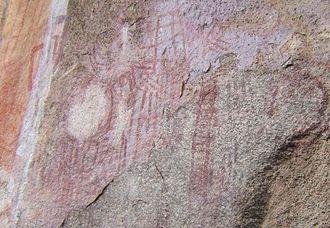 Chongoni Rock Art Area - Rock painting in Chongoni Rock Art Area