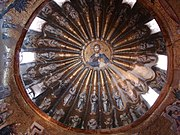 Mosaic of Christ Pantocrator, south dome of inner narthex