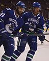 Chris Higgins Henrik Sedin.JPG