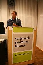 Christian Zurbrugg (EAWAG- SANDEC) talking to the crowd (15349506107).jpg