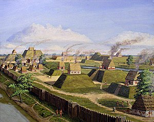 Palisade - The Kincaid Site, a Mississippian culture palisaded settlement in southern Illinois