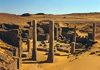 Sudan - The ruins of Old Dongola.