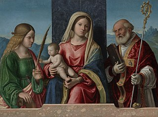 Virgin and Child with Saints Catherine and Nicholas