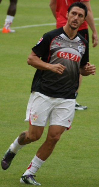 Ciprian Marica - Marica warming up for VfB Stuttgart in 2010.