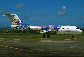 Citilink - Citilink Fokker F28 Fellowship in 2003