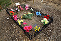 City of London Cemetery and Crematorium - temporary grave decorations 02.jpg