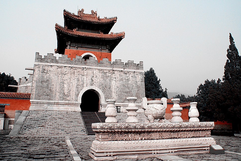 Cixi tomb memorial tower 2011 11