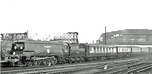Funeral train - Sir Winston Churchill's funeral train passing Clapham Junction