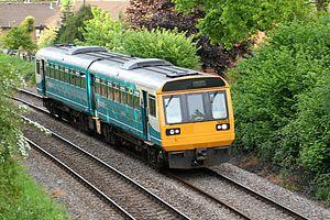 Cardiff City Line - Image: Class 142 Danescourt Up 3
