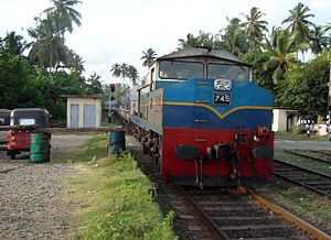 Class M4 MLW - Alco Bombardier -- 745 arriving at Aluthgama, Sri Lanka.jpg